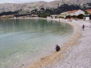 Krk, beach